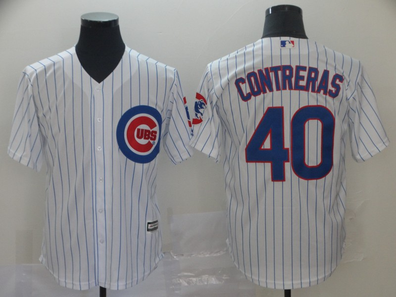 Cubs 40 Willson Contreras White Cool Base Jersey