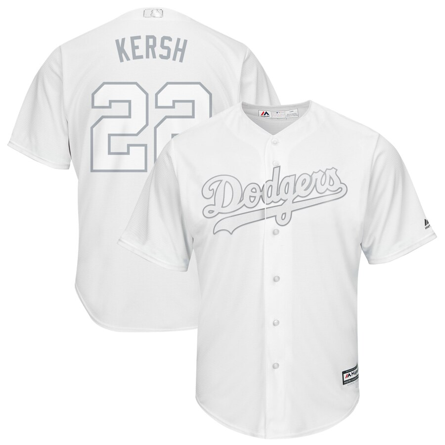 Dodgers 22 Clayton Kershaw White 2019 Players' Weekend Player Jersey