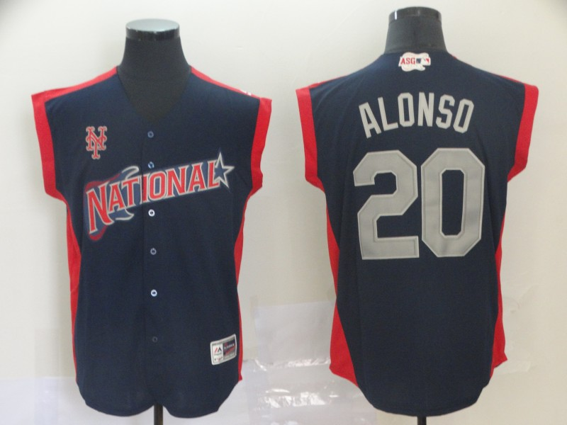 National League 20 Pete Alonso Navy 2019 MLB All-Star Game Player Jersey
