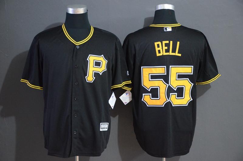 Pirates 55 Josh Bell Black Cool Base Jersey