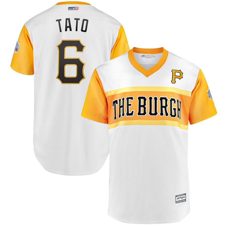 Pirates #6 Starling Marte Tato White 2019 MLB Little League Classic Player Jersey