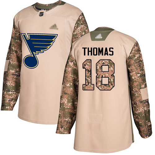 Blues #18 Robert Thomas Camo Authentic 2017 Veterans Day Stitched