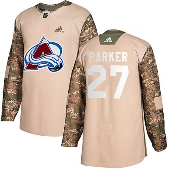 Men's Colorado Avalanche #27 Scott Parker Adidas Authentic Veterans Day