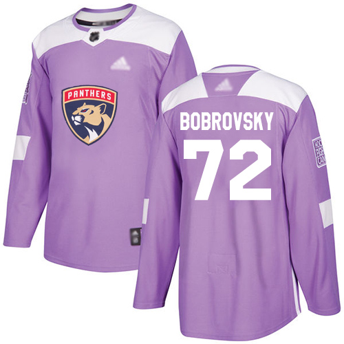 Panthers #72 Sergei Bobrovsky Purple Authentic Fights Cancer