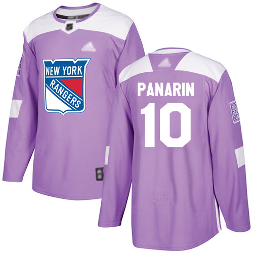 Rangers #10 Artemi Panarin Purple Authentic Fights Cancer Stitched