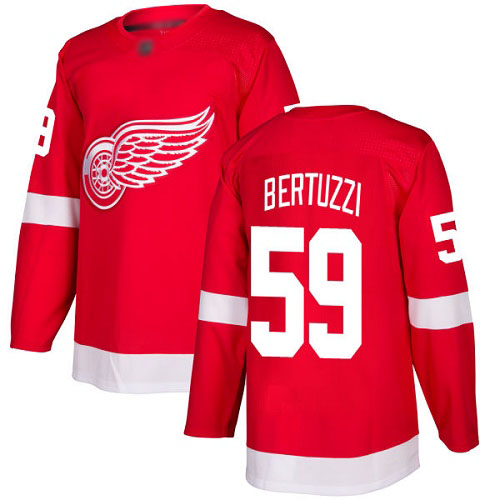 Red Wings #59 Tyler Bertuzzi Red Home Authentic Stitched Hockey