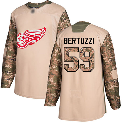 Red Wings #59 Tyler Bertuzzi Camo Authentic 2017 Veterans Day
