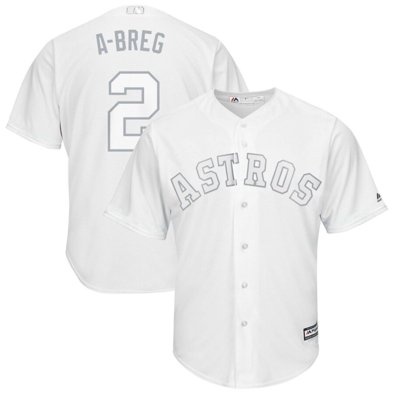Astros #2 Alex Bregman White A-Breg Players Weekend Cool Base