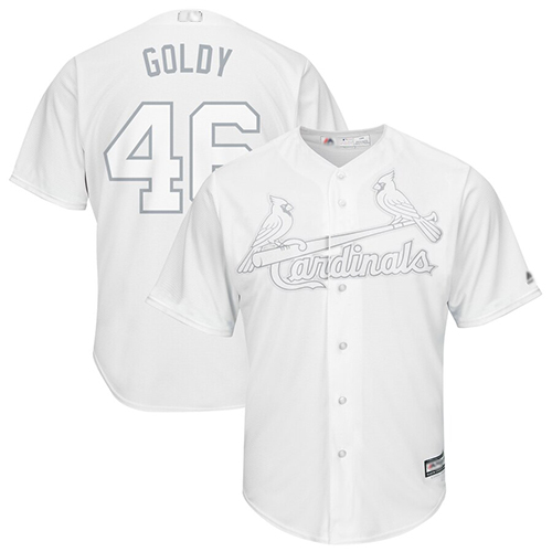 Cardinals #46 Paul Goldschmidt White Goldy Players Weekend Cool