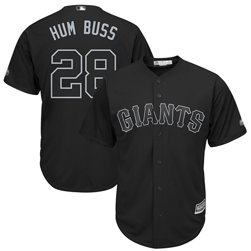 Giants #28 Buster Posey Black Hum Buss Players Weekend Cool Base