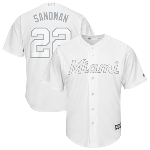 marlins #22 Sandy Alcantara White Sandman Players Weekend Cool