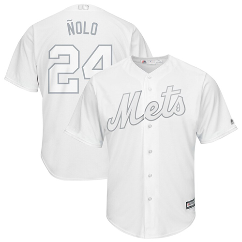 Mets #24 Robinson Cano White Nolo Players Weekend Cool Base