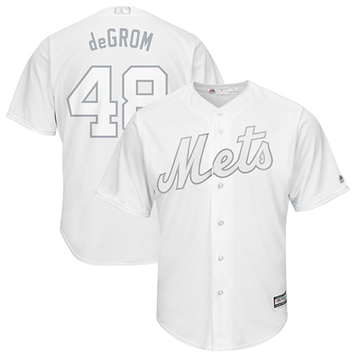 Mets #48 Jacob DeGrom White deGrom Players Weekend Cool Base