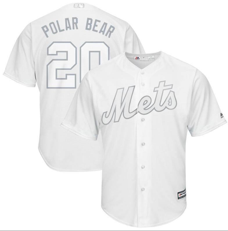 Mets #20 Pete Alonso White Polar Bear Players Weekend Cool Base