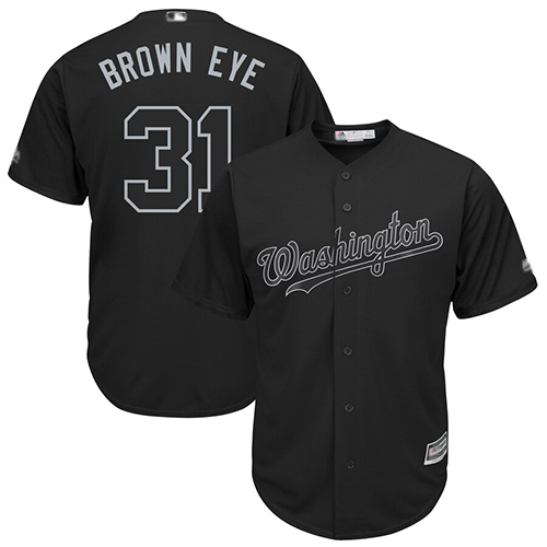 Nationals #31 Max Scherzer Black Brown Eye Players Weekend Cool