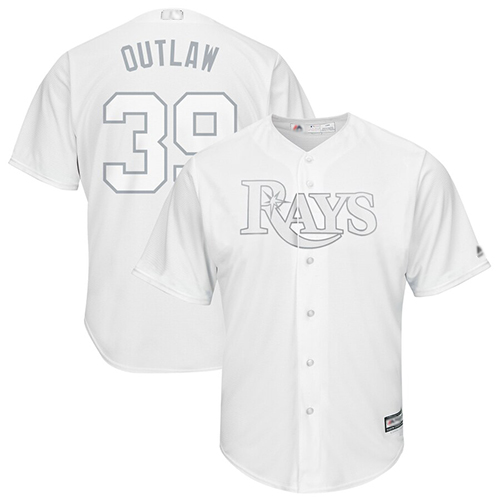 Rays #39 Kevin Kiermaier White Outlaw Players Weekend Cool Base