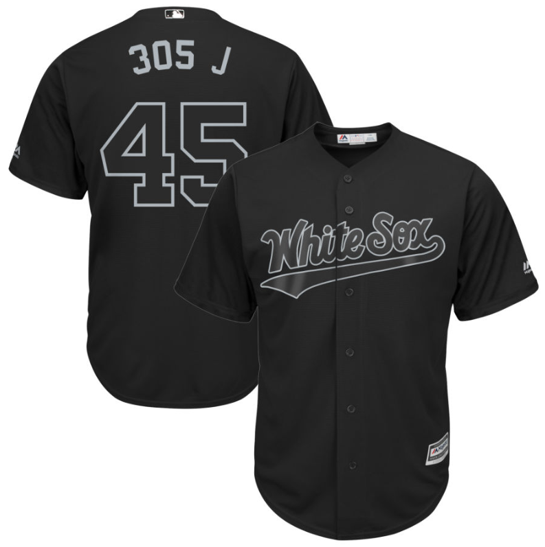 White Sox #45 Michael Jordan Black 305 J Players Weekend Cool