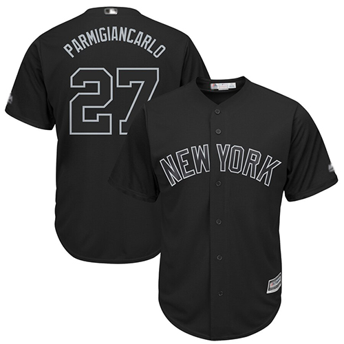 Yankees #27 Giancarlo Stanton Black Parmigiancarlo Players