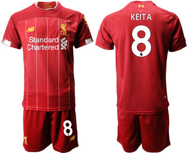 2019-20 Liverpool 8 KEITA Home Soccer Jersey