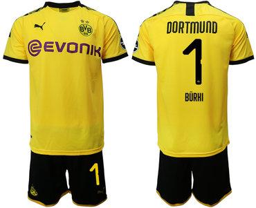 2019-20 Dortmund 1 BURKI Home Soccer Jersey