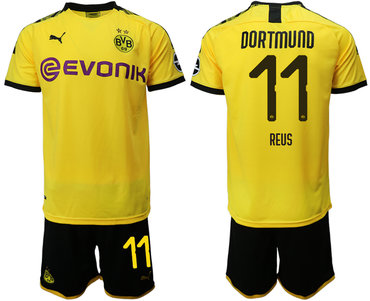 2019-20 Dortmund 11 REUS Home Soccer Jersey
