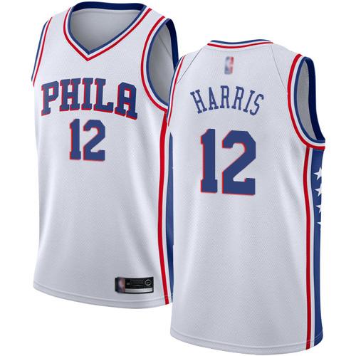 76ers #12 Tobias Harris White Basketball Swingman Association