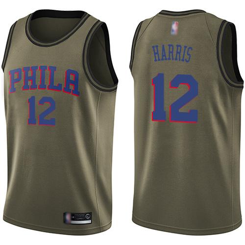 76ers #12 Tobias Harris Green Basketball Swingman Salute to