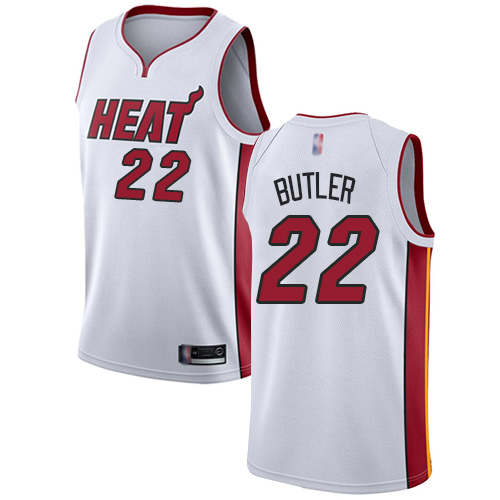 Heat #22 Jimmy Butler White Basketball Swingman Association