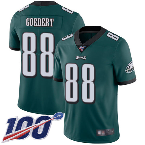Nike Eagles #88 Dallas Goedert Midnight Green Team Color Men's Stitched NFL 100th Season Vapor Limited Jersey