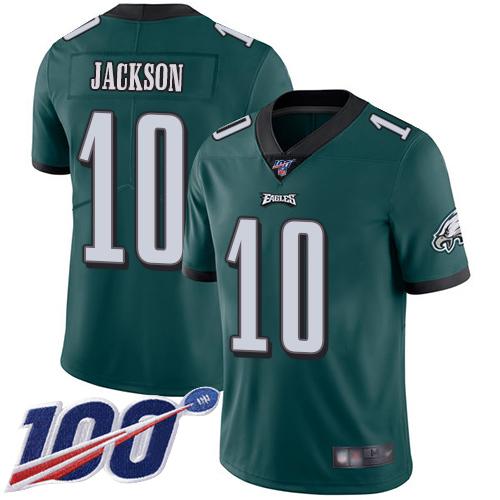 Nike Eagles #10 DeSean Jackson Midnight Green Team Color Men's Stitched NFL 100th Season Vapor Limited Jersey