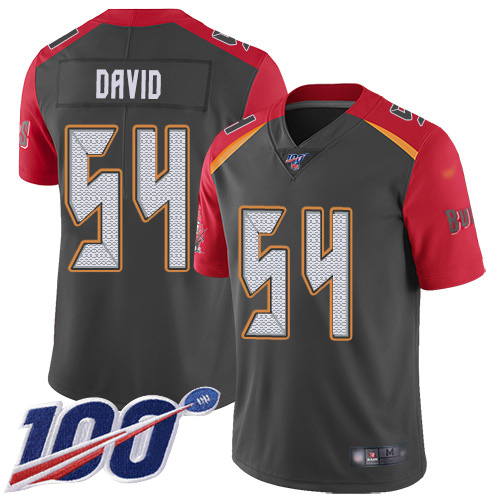 Nike Buccaneers #54 Lavonte David Gray Men's Stitched NFL Limited Inverted Legend 100th Season Jersey