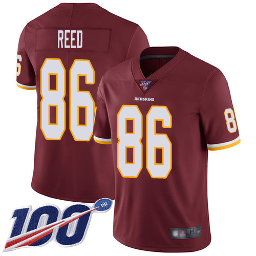 Nike Redskins #86 Jordan Reed Burgundy Red Team Color Men's Stitched NFL 100th Season Vapor Limited Jersey