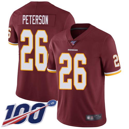 Nike Redskins #26 Adrian Peterson Burgundy Red Team Color Men's Stitched NFL 100th Season Vapor Limited Jersey