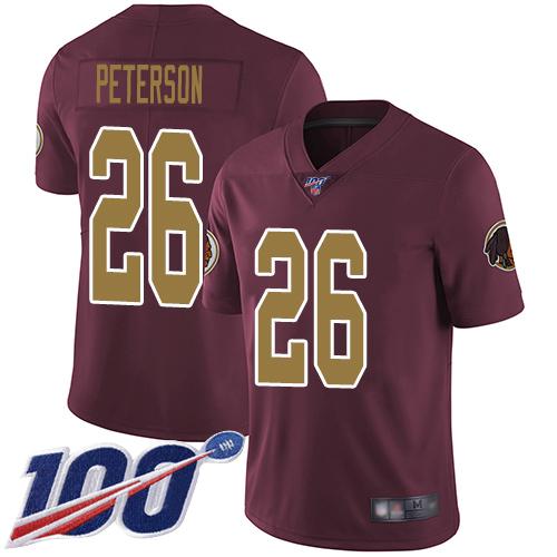 Nike Redskins #26 Adrian Peterson Burgundy Red Alternate Men's Stitched NFL 100th Season Vapor Limited Jersey