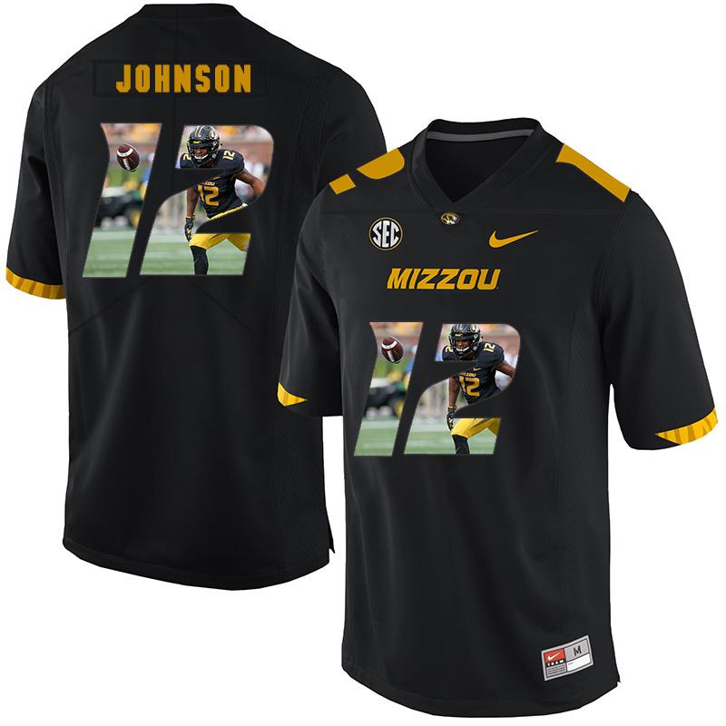 Missouri Tigers 12 Johnathon Johnson Black Nike Fashion College Football Jersey