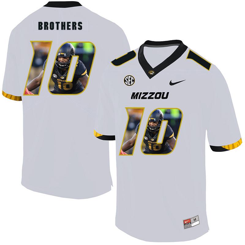 Missouri Tigers 10 Kentrell Brothers White Nike Fashion College Football Jersey