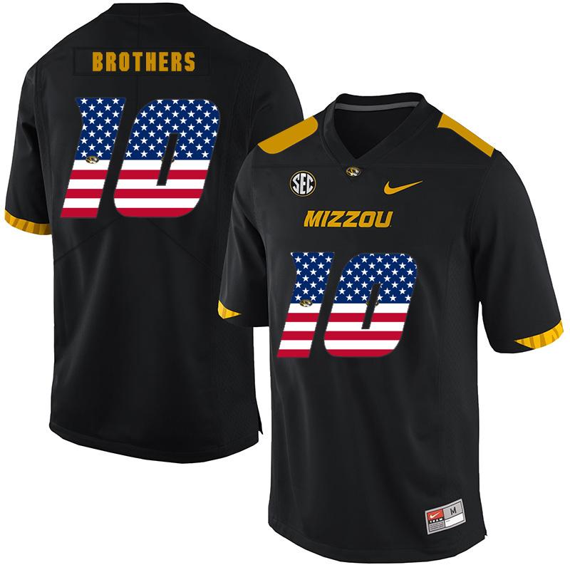Missouri Tigers 10 Kentrell Brothers Black USA Flag Nike College Football Jersey