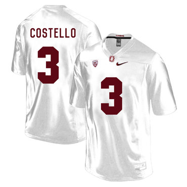 Stanford Cardinal 3 K.J. Costello White College Football Jersey