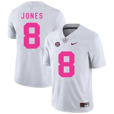 Alabama Crimson Tide 8 Julio Jones White 2017 Breast Cancer Awareness College Football Jersey