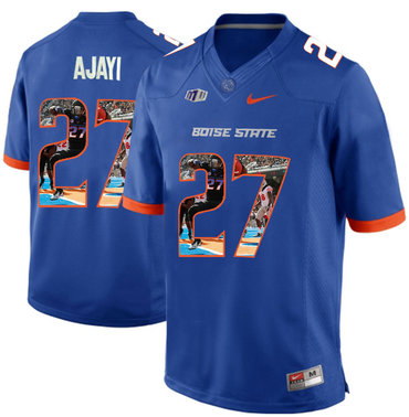 Boise State Broncos 27 Jay Ajayi Blue With Portrait Print College Football Jersey