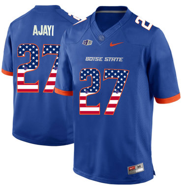 Boise State Broncos 27 Jay Ajayi Blue USA Flag College Football Jersey