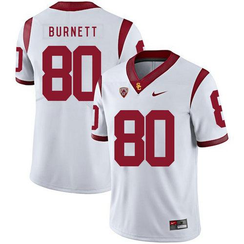 USC Trojans 80 Deontay Burnett White College Football Jersey