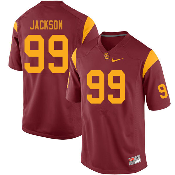 USC Trojans College #99 Drake Jackson Football Cardinal Jerseys