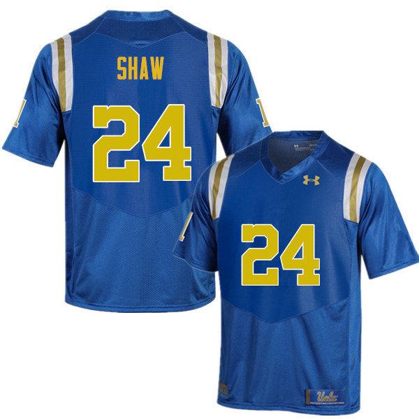UCLA Bruins Men #24 Jay Shaw Under Armour College Football Blue Jerseys