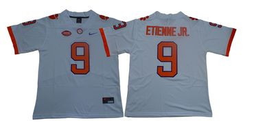Men's Nike Clemson Tigers #9 Travis Etienne Jr White Team Color 2019 New