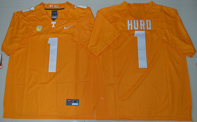 Tennessee Vols #1 Jalen Hurd Dobbs Orange College Jersey