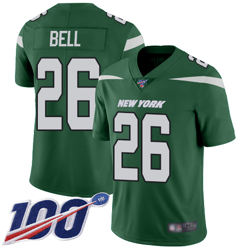 Jets #26 Le'Veon Bell Green Team Color Men's Stitched Football 100th Season Vapor Limited Jersey