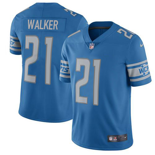 Nike Lions #21 Tracy Walker Blue Team Color Men's Stitched NFL Vapor Untouchable Limited Jersey