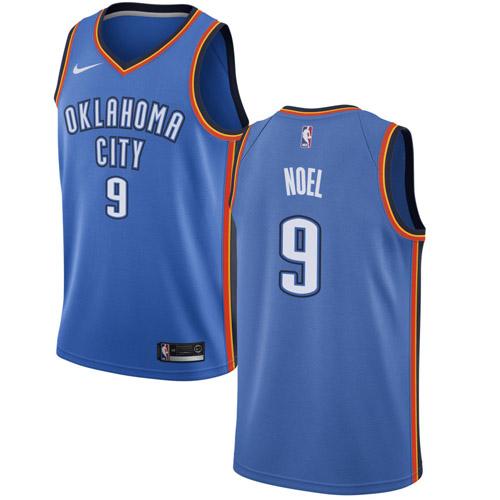 Nike Thunder #9 Nerlens Noel Blue NBA Swingman Icon Edition Jersey