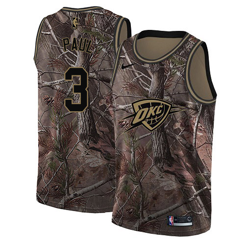 Nike Thunder #3 Chris Paul Camo NBA Swingman Realtree Collection Jersey
